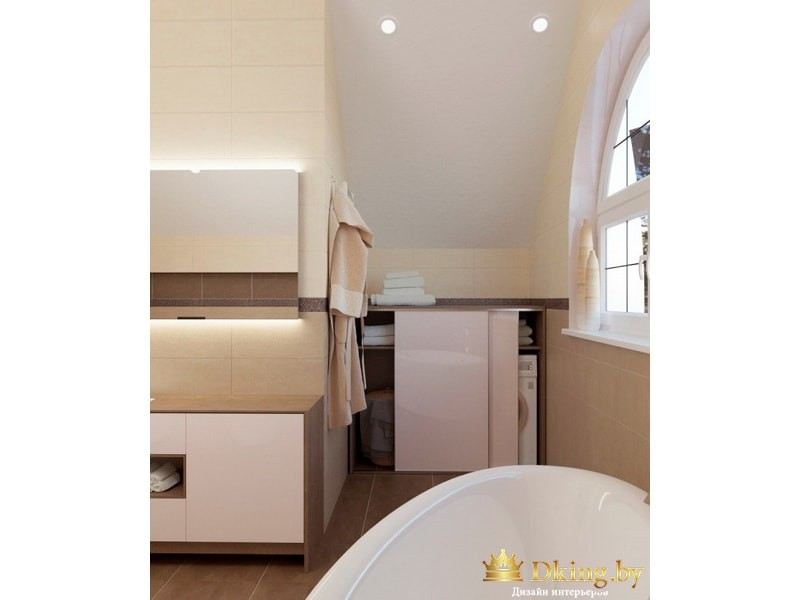 Полка для стиральной машины в ванной комнате