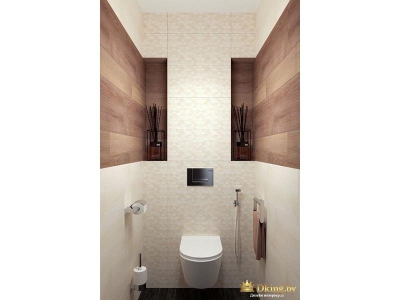 Туалетная комната с деревянными элементами