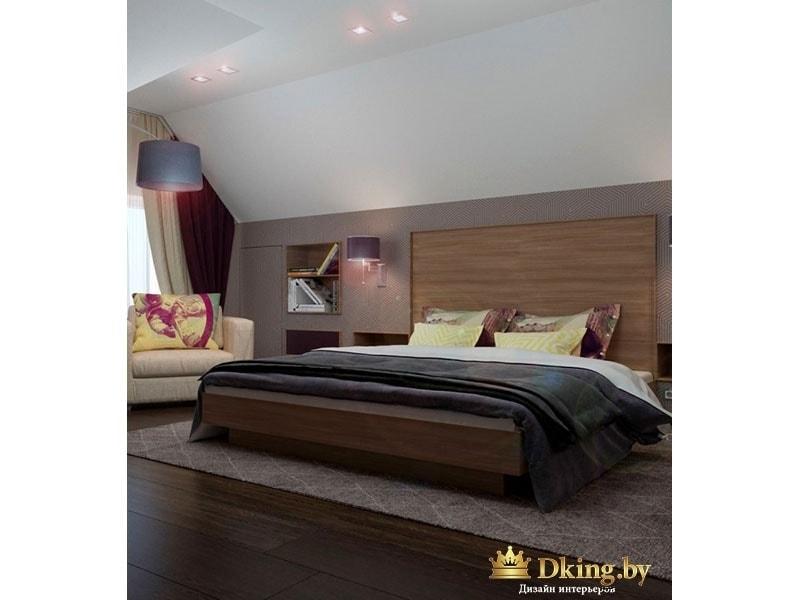 Двуспальная кровать в комнате