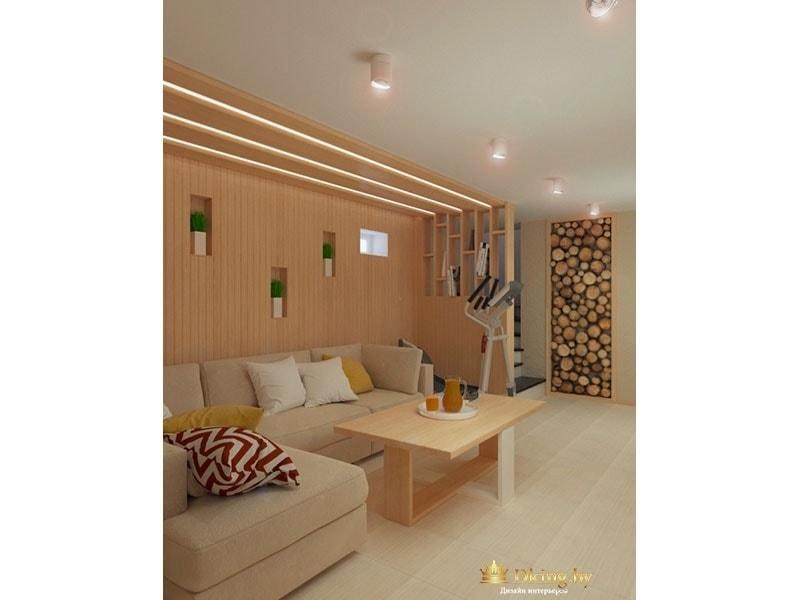 Диван и подсветка потолка