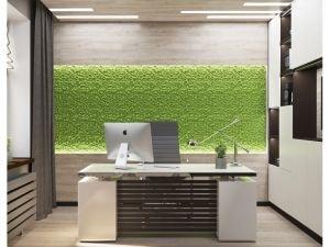 дизайн кабинета с имитацией газонаа