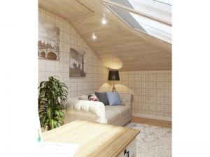 Кожаный диван  светлом кабинете