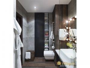 Ванная с деревянными элементами