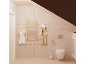 Ванная с лепниной на стене