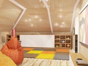 Детская комната с креслами мешками