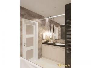 Двери в ванной, умывальник, ванна