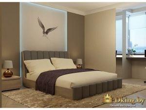 Кровать в общем интерьере спальни