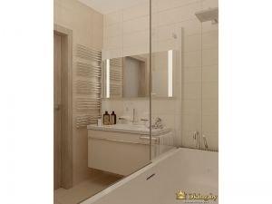Интерьер ванной с позиции находящегося в ванне человека