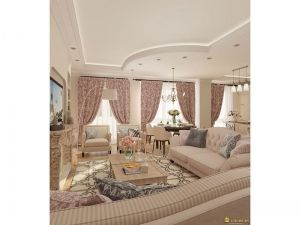 Вид интреьера комнаты: мебель и обстановка