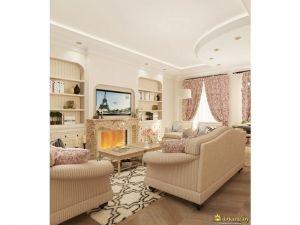 Вид с другого ракурса: гостиная комната