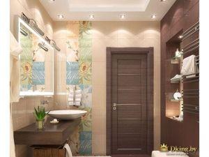 Вот как выглядит роскашная ванная комната: деревянная мебель, коричневые и бежевые цвета