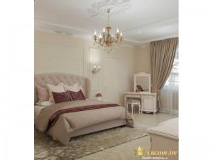 Двуспальная молочная кровать