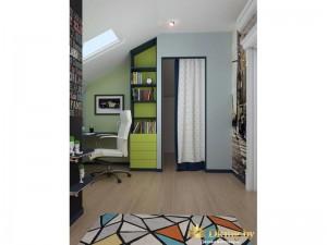 Зеленая полка в комнате