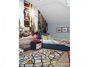 Геометрические фигуры на ковре