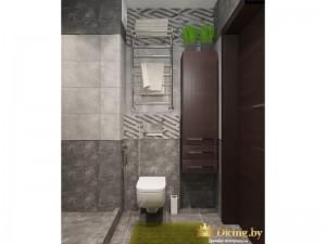 Серая ванная комната