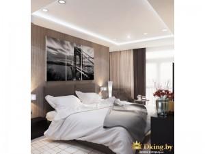 Картина над двуспальной кроватью