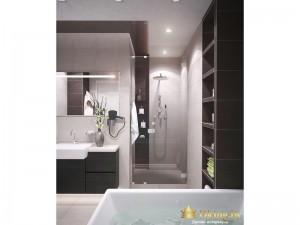 Душевая стойка в ванной комнате