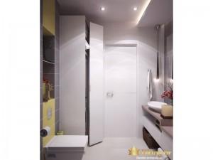 Белый шкаф в ванной комнате