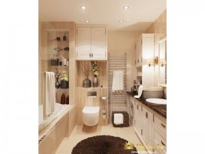 Общий вид на ванную комнату