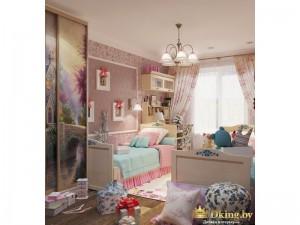 Шкаф-купе с фотопечатью в детской комнате
