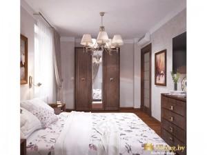 Просторная светлая спальня