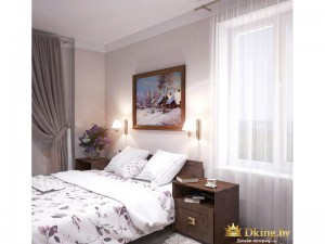 Картина над двухспальной кроватью