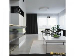 Светлая комната с большим белым столом
