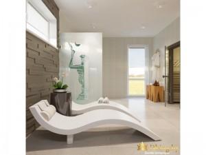 Два кресла для отдыха в ванной комнате