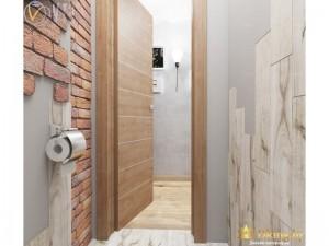 Кирпичная кладка в туалете
