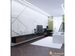 Белая стена в хай-тек стиле