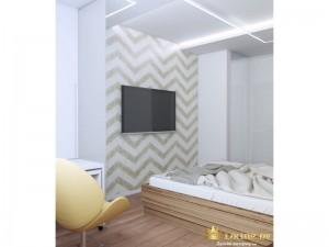 Телевизор на светлой стене