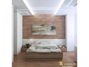 деревянная спальня общий вид