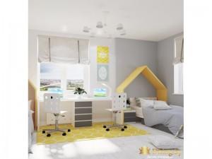 Интерьер светлой детской комнаты