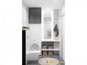 Светлая туалетная комната