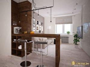 Дизайн-проект квартиры, однокомнатная