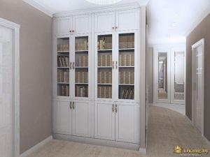 классический книжный шкафы, прихожая с закругленными углами