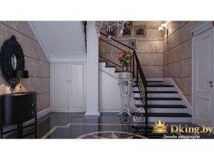 Поворотная лестница наверх