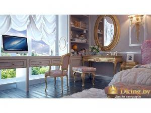 Круглое зеркало в спальне