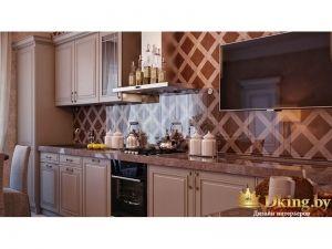 Кухня в розовых цветах