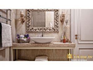Дизайнерское зеркало в ванной комнате