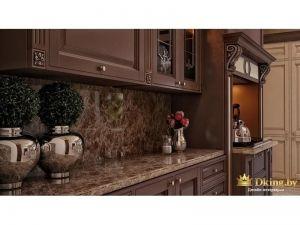 Кухня с каменными элементами