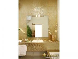 Ванная в золотых цветах