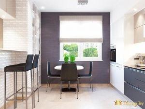 Совмещенная кухня с комнатой