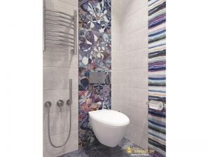 Стилизованная стенка в туалете