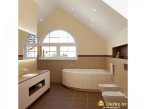 Угловая ванная комната