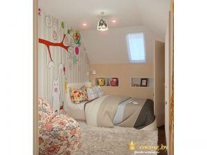 Рисунок зайца на стене в детской комнате