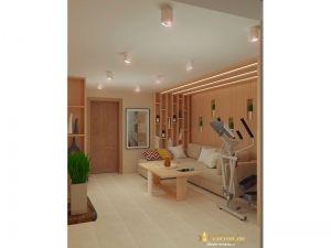 Деревянная стена в гостинной