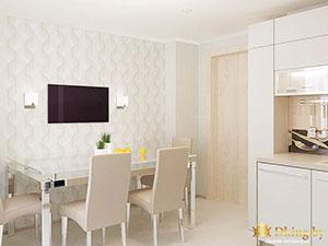 белая кухня в загородном маленьком доме