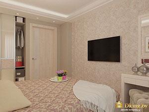 интерьер загородного дома: спальня в стиле современная классика