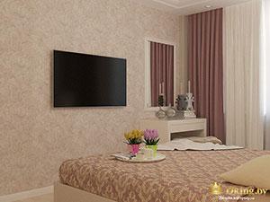 классические акценты в спальне частного дома